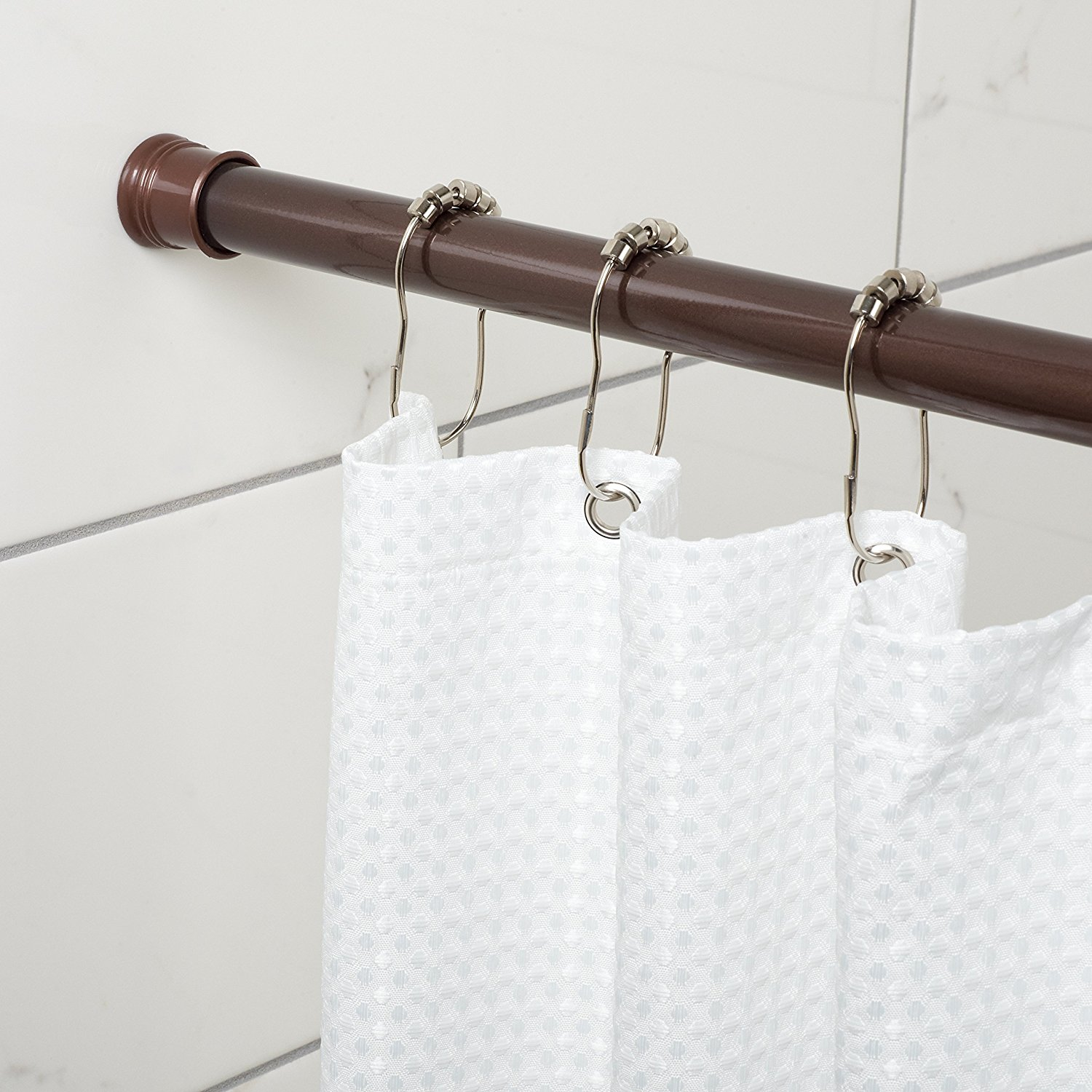 Exciting Bathroom Decor Ideas with Shower Curtain Tension Rod: Bathroom Shower Curtain Rods | Shower Curtain Tension Rod | Shower Rod Extension