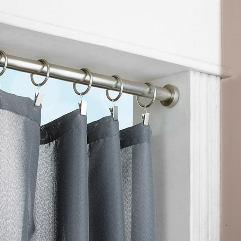 Bathroom Tension Rod | Shower Curtain Tension Rod | Expandable Shower Curtain Rod