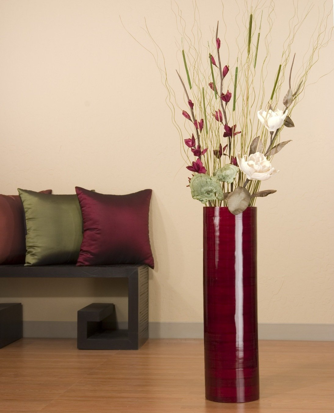 Black Floor Vases | Clear Glass Floor Vases | Extra Large Floor Vases