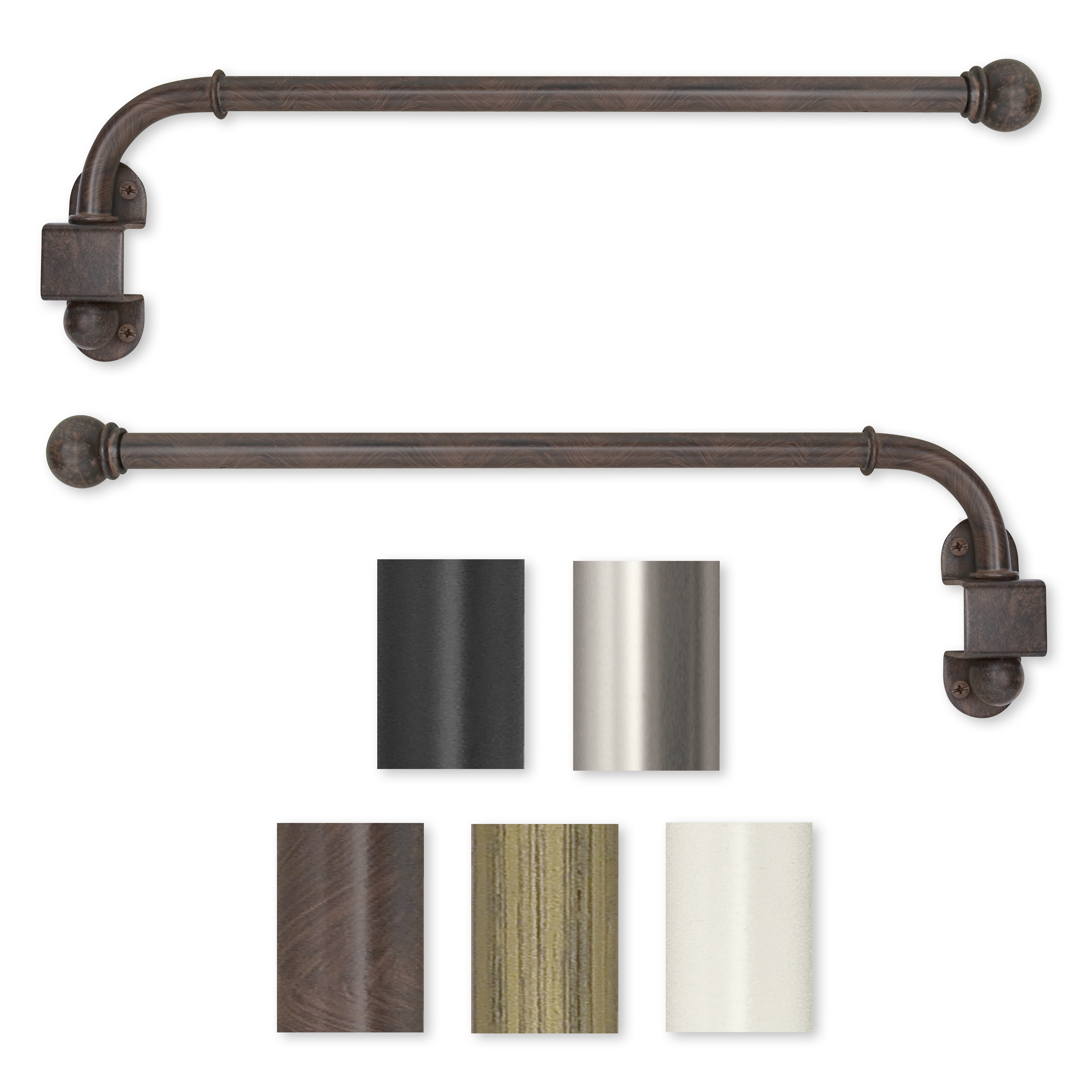 Curtain: Nice Bronze Curtain Rods For Best Rods Material Ideas ...