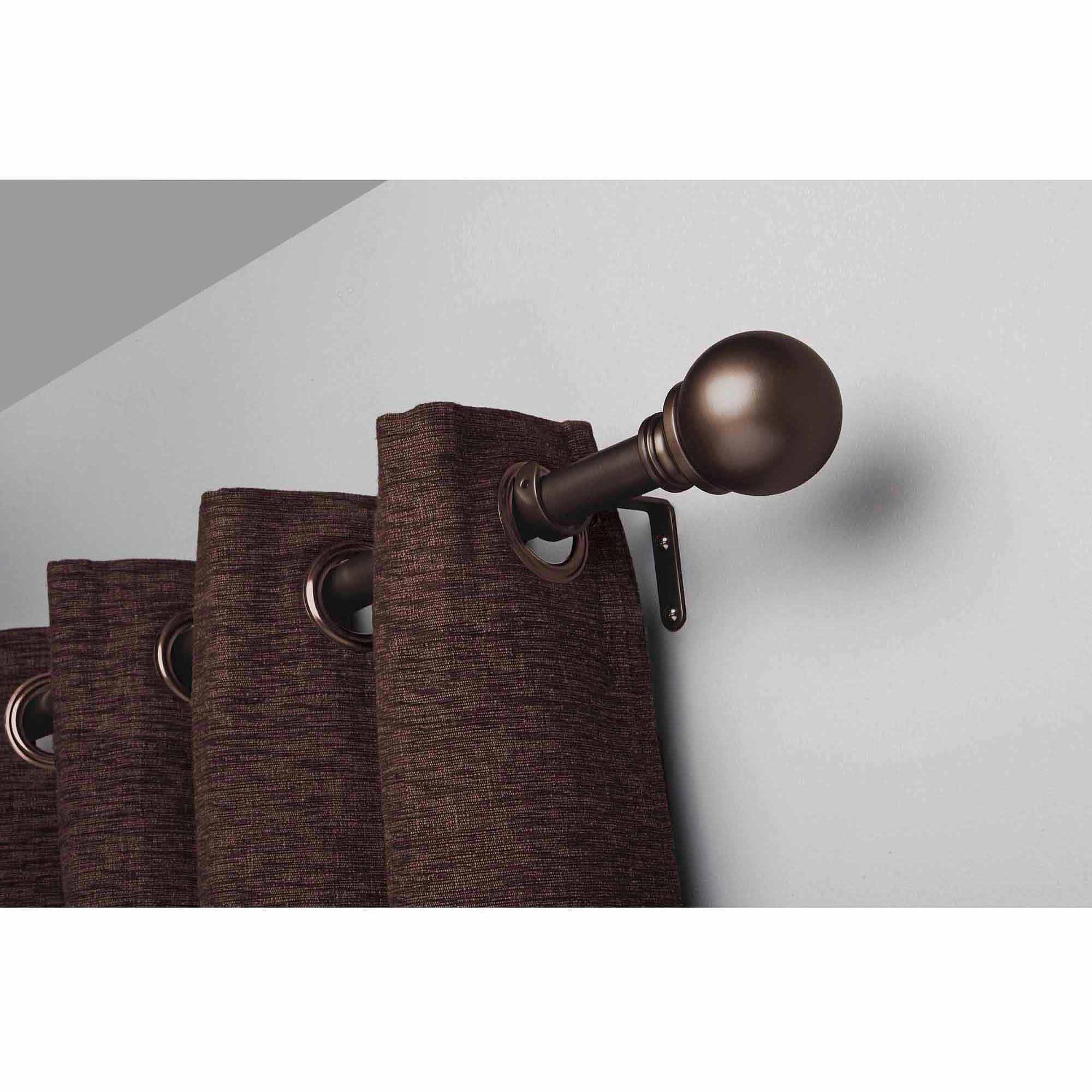 Bronze Curtain Rods | Oil Rubbed Bronze Drapery Rod | Rubbed Bronze Curtain Rod