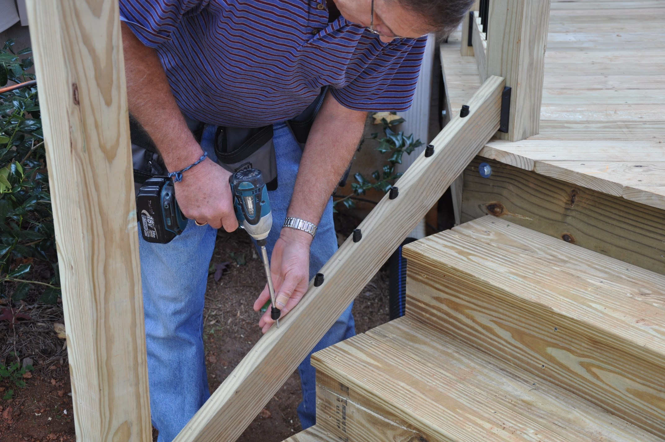 Build Deck Stairs | 3 Step Stair Stringer | Wood Stair Stringers