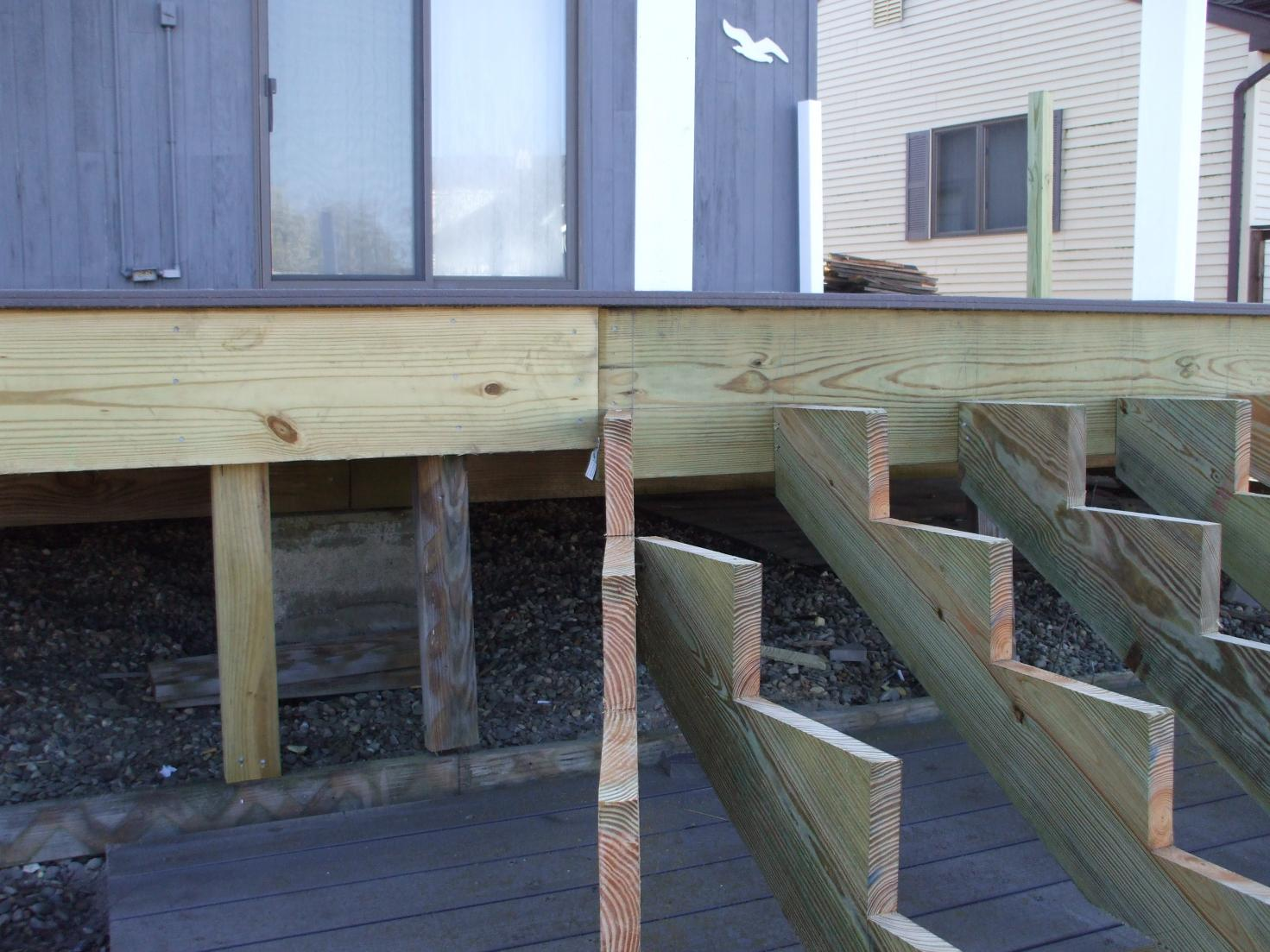 Build Deck Stairs | Cut Stair Stringers | Attaching Stringers to Deck