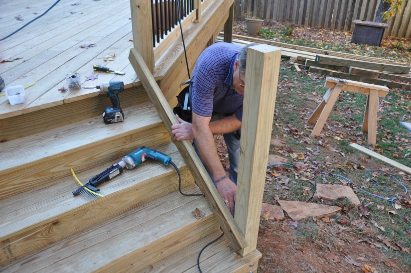 Build Deck Stairs   Cut Stair Stringers   Handrails For Deck Stairs