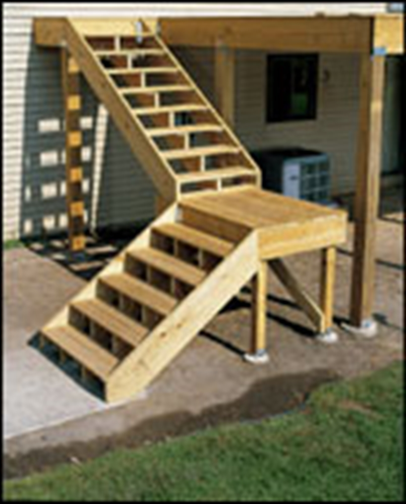 Build Deck Stairs | Deck Stair Brackets | Deck Stair Stringers