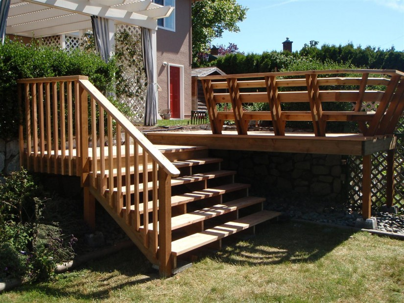 Build Deck Stairs   How To Build A Staircase Stringer   Deck Stair Rails