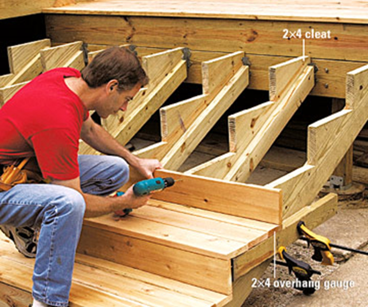 Build Deck Stairs | How to Build A Staircase Stringer | Deck Treads