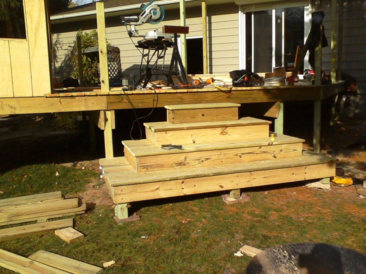Build Deck Stairs | How to Build Deck Stairs and Railing | How to Build Stairs Stringers