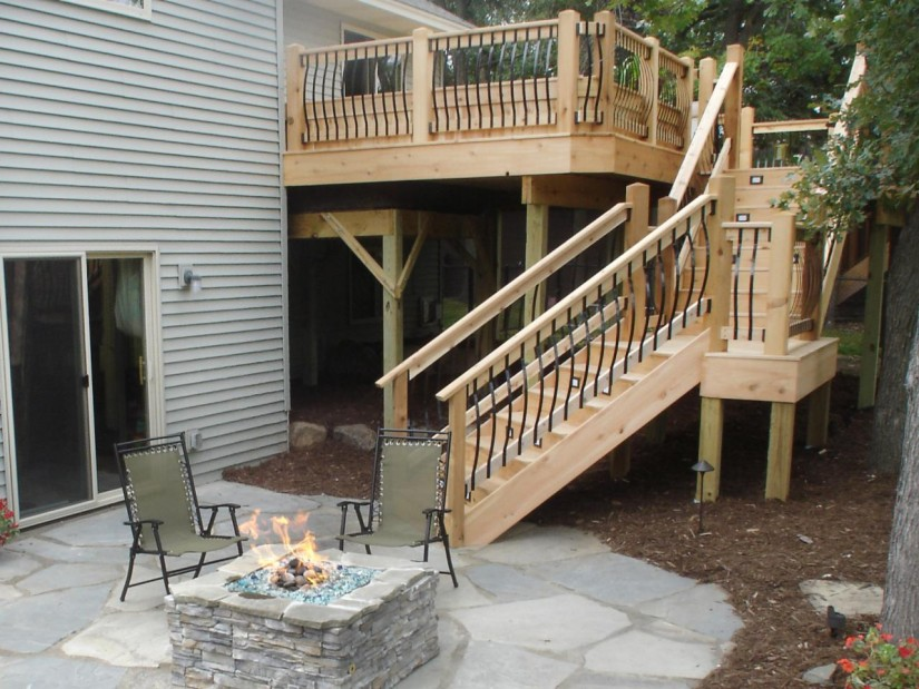 Build Deck Stairs | Make Stair Stringer | 2 Step Riser