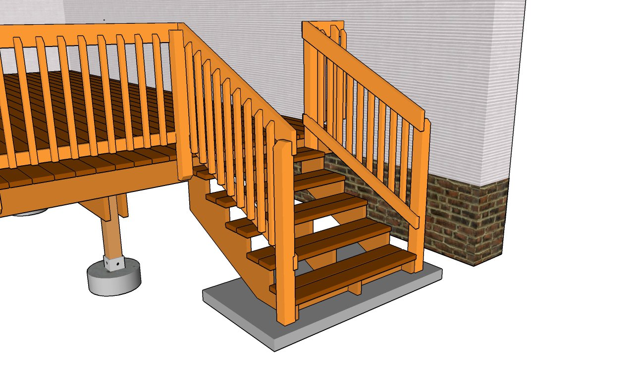 Build Deck Stairs | Make Stair Stringer | Building Stair Treads