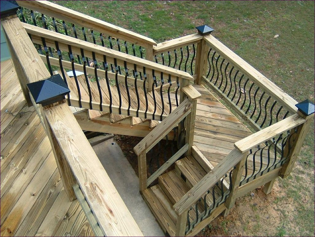 Build Deck Stairs with Landing | Build Deck Stairs | Deck Stair Rails