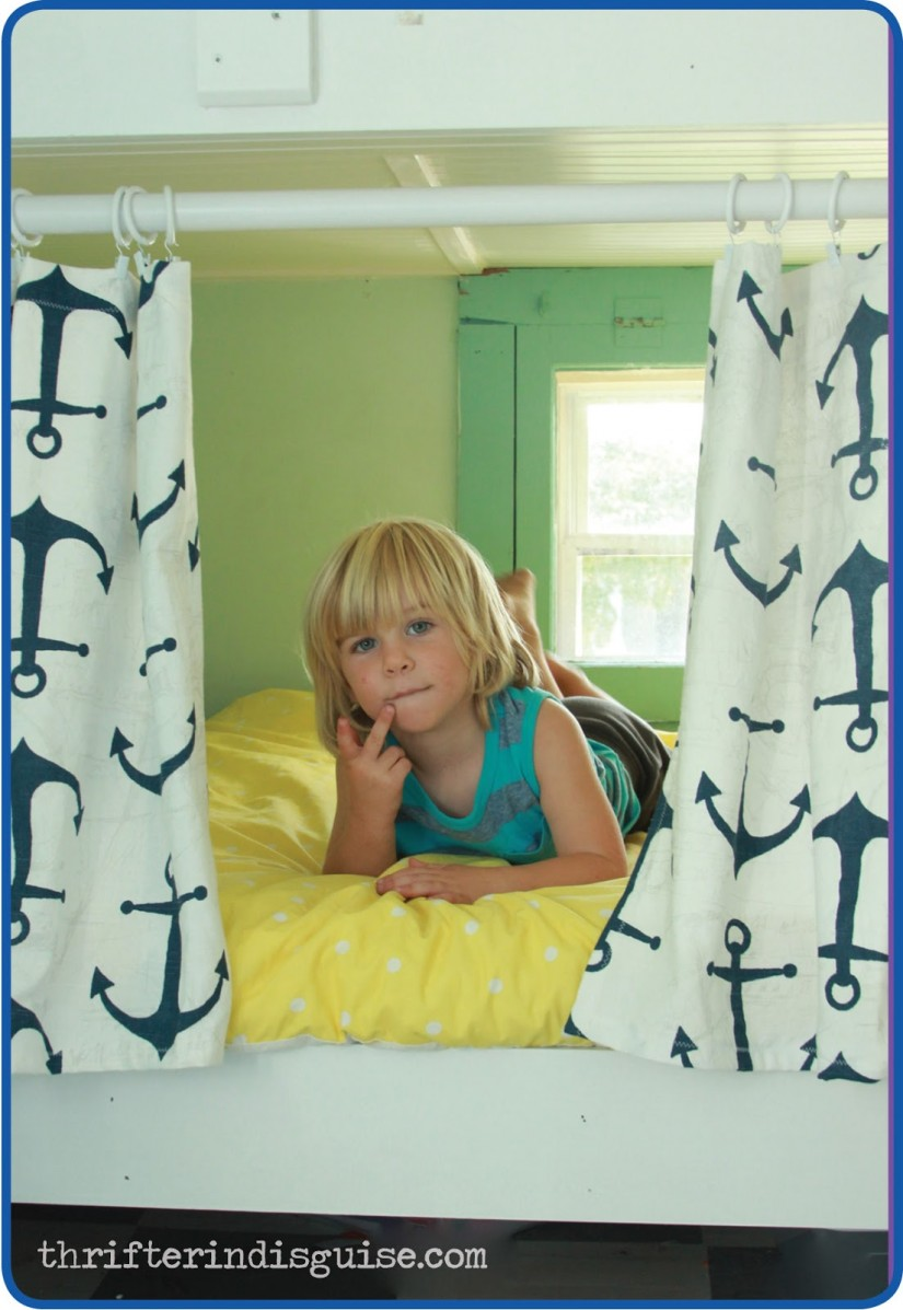 Bunk Bed Canopy Tent | Pirate Ship Bed Tent | Bunk Bed Curtains