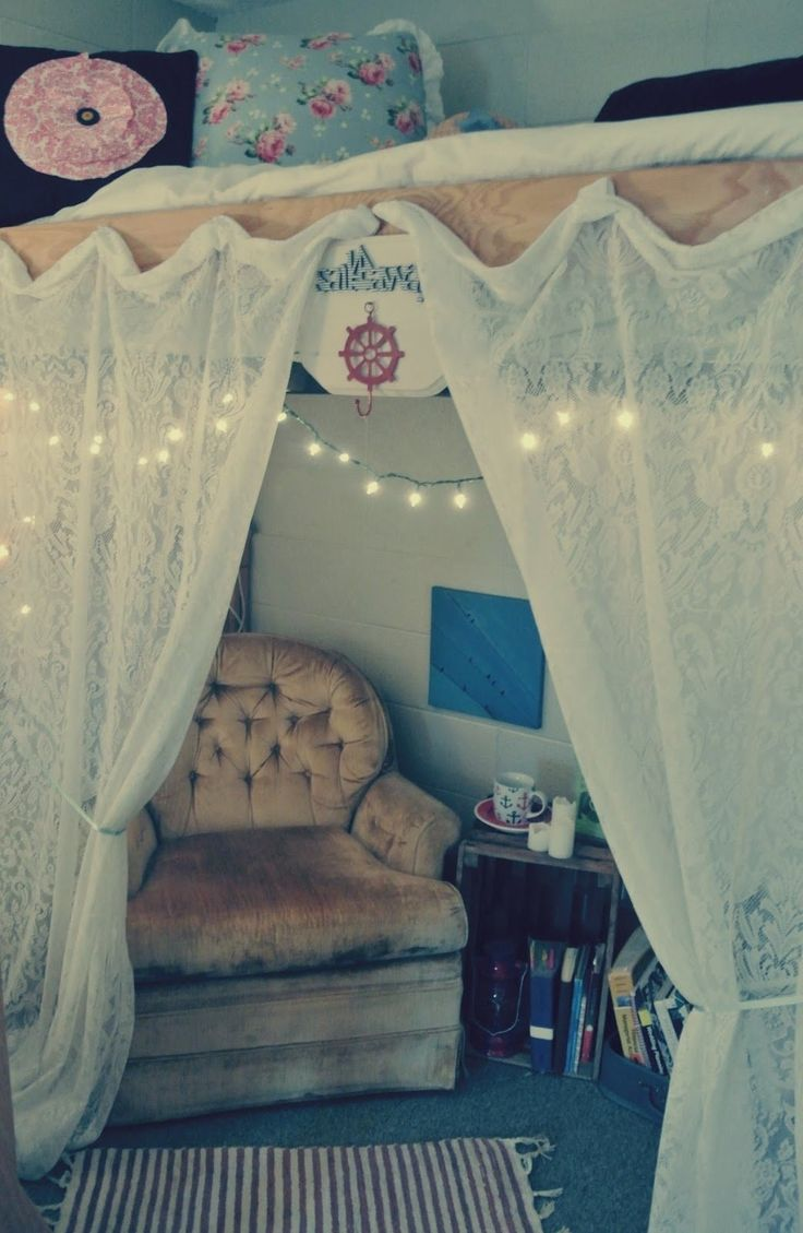 Bed Divider Design Ideas with Bunk Bed Curtains: Bunk Bed Curtains | Bunk Bed Playhouse Curtains | Loft Bed With Curtains