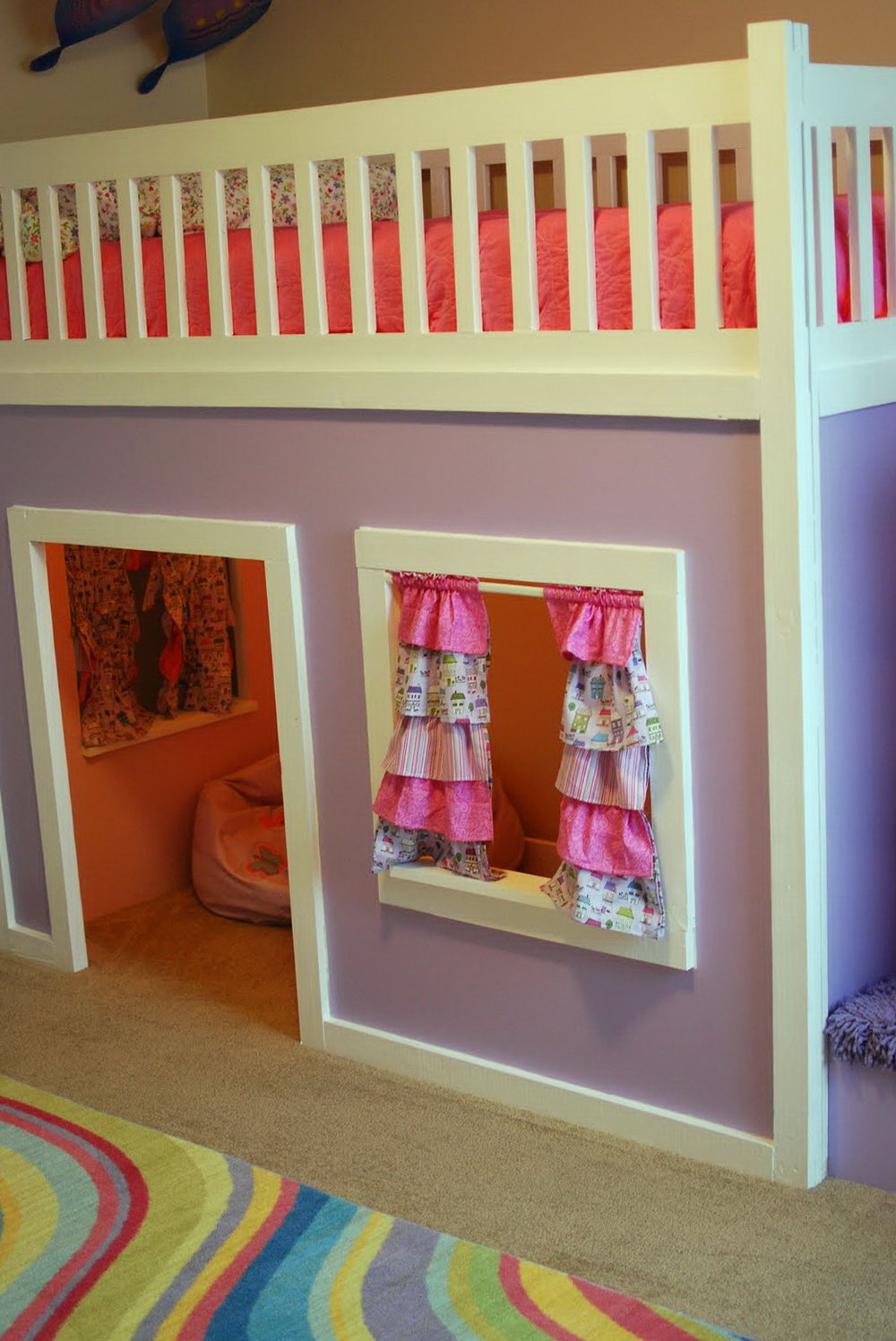 Bed Divider Design Ideas with Bunk Bed Curtains: Bunk Bed Curtains | Ikea Bed With Tent | Bunk Beds Tent