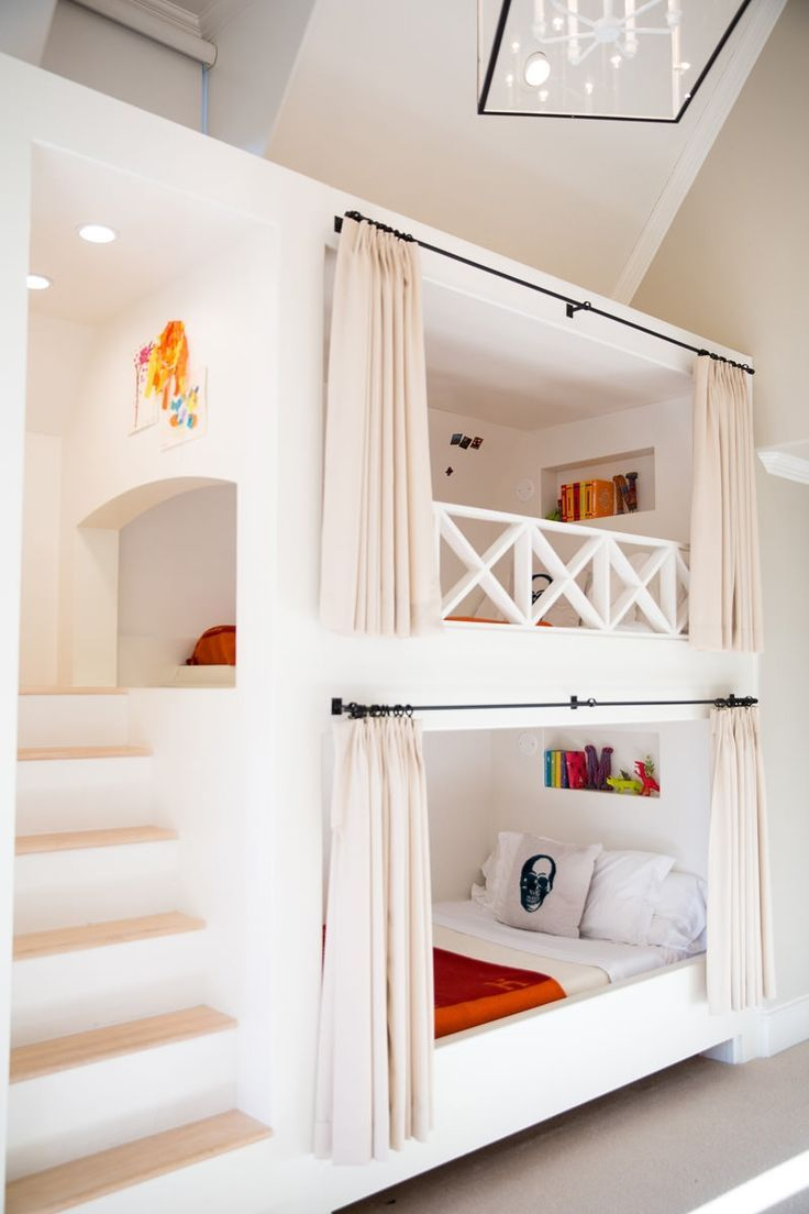 Bed Divider Design Ideas with Bunk Bed Curtains: Bunk Bed Rods | Bunk Bed Curtains | Bunk Bed Tent Only