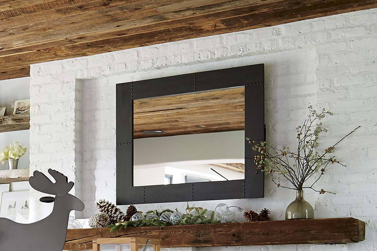 Cb2 Mirror | Crate and Barrel Mirrors | Hammered Metal Mirrors