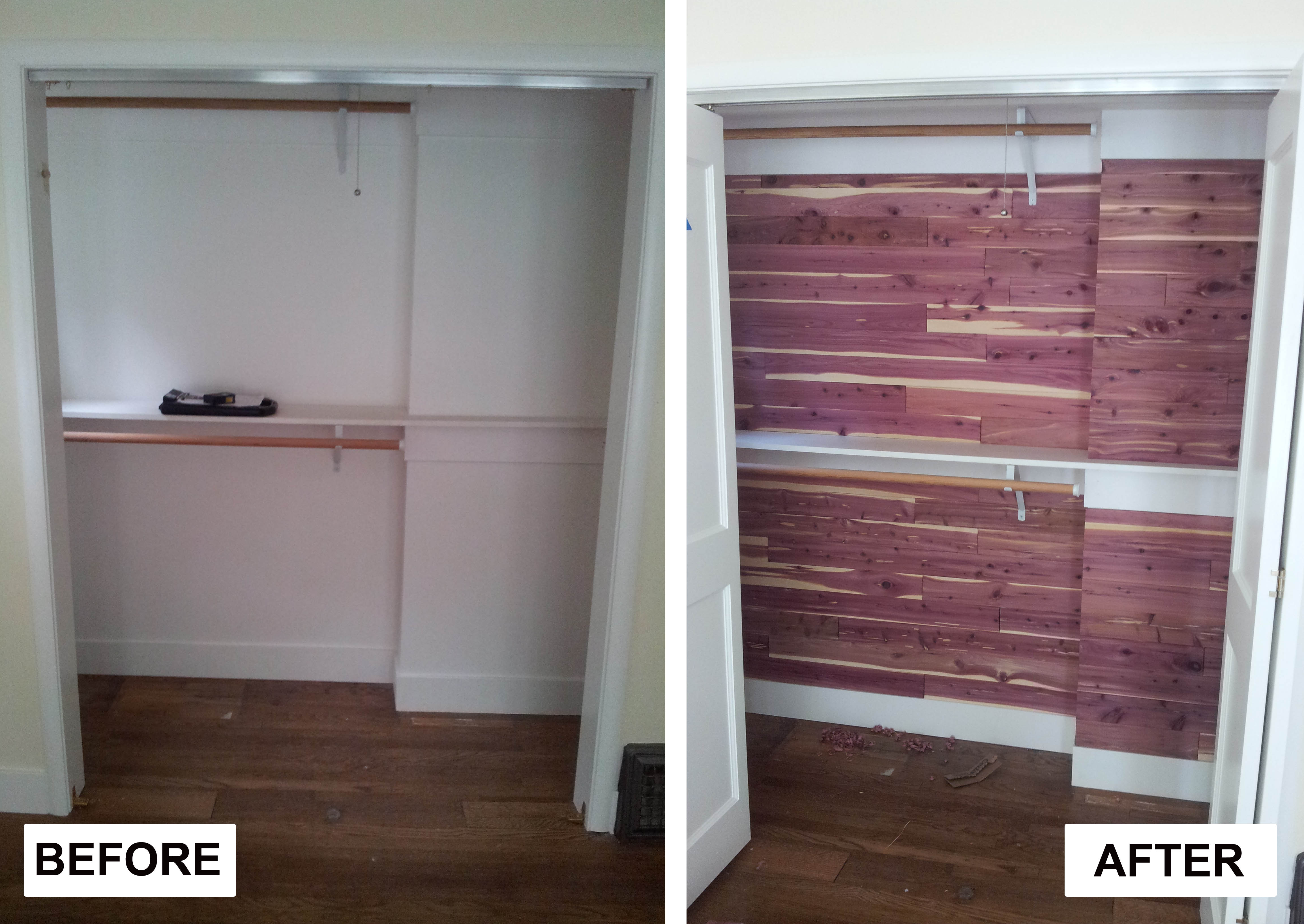 Cedar Closet Kit | Red Cedar Planks | How to Build A Cedar Closet