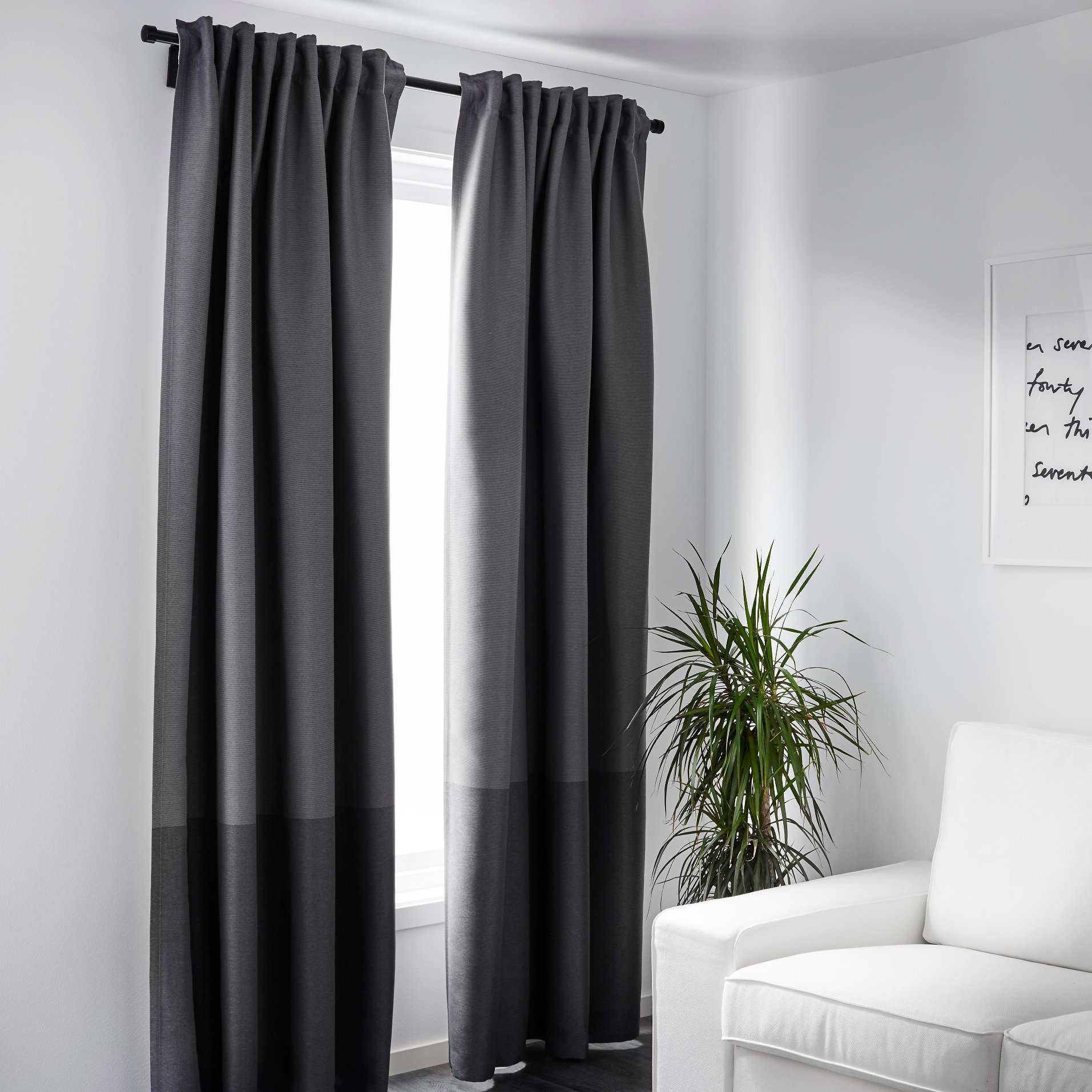 Cheap Blackout Curtains | Black and White Blackout Curtains | Short Blackout Curtains