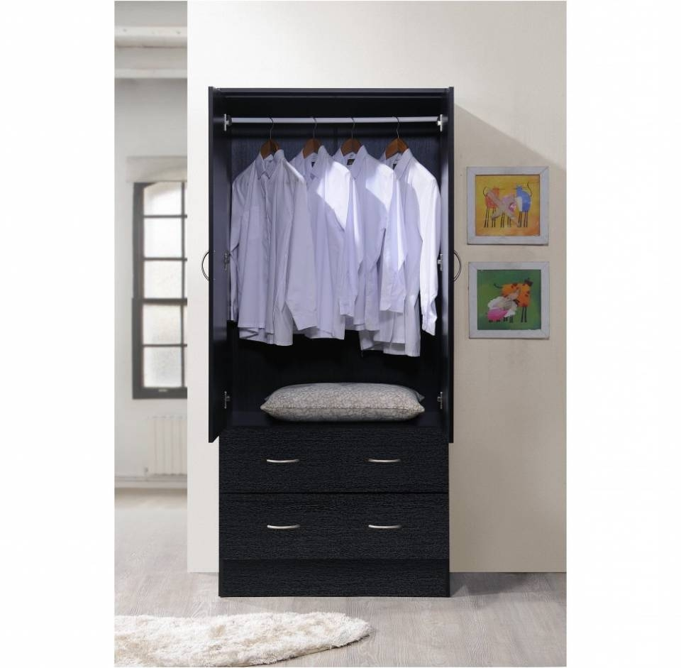 Cheap Wardrobe Closet | Sliding Door Armoire | Armoire with Hanging Rod