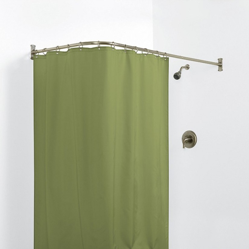 Chrome Tension Shower Rod | Shower Curtain Tension Rod | Shower Stall Curtain Rods