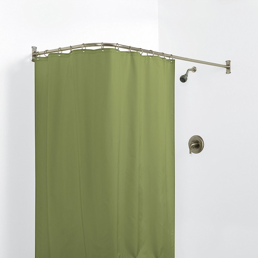 Exciting Bathroom Decor Ideas with Shower Curtain Tension Rod: Chrome Tension Shower Rod | Shower Curtain Tension Rod | Shower Stall Curtain Rods