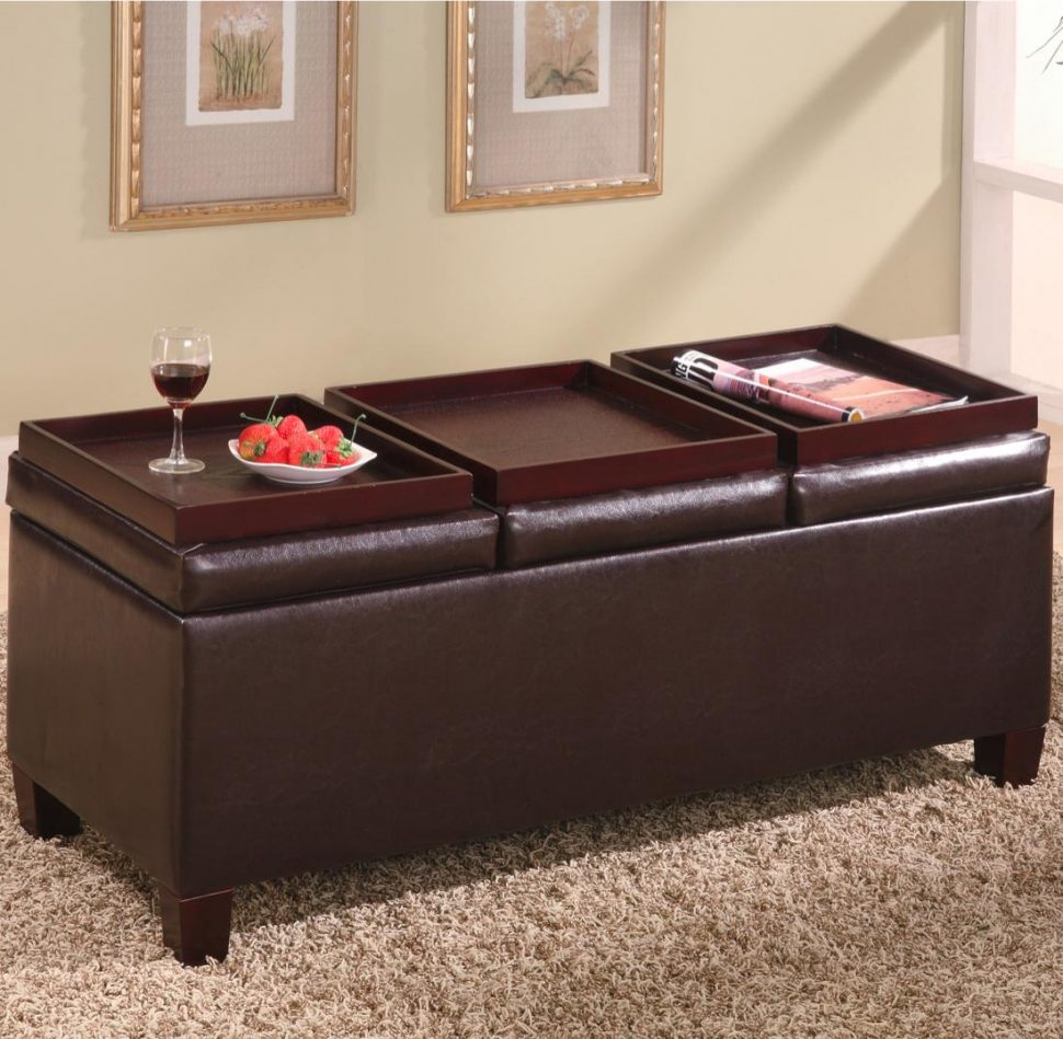 Cloth Ottoman Coffee Table | Leather Rectangular Ottoman Coffee Table | Extra Large Ottoman