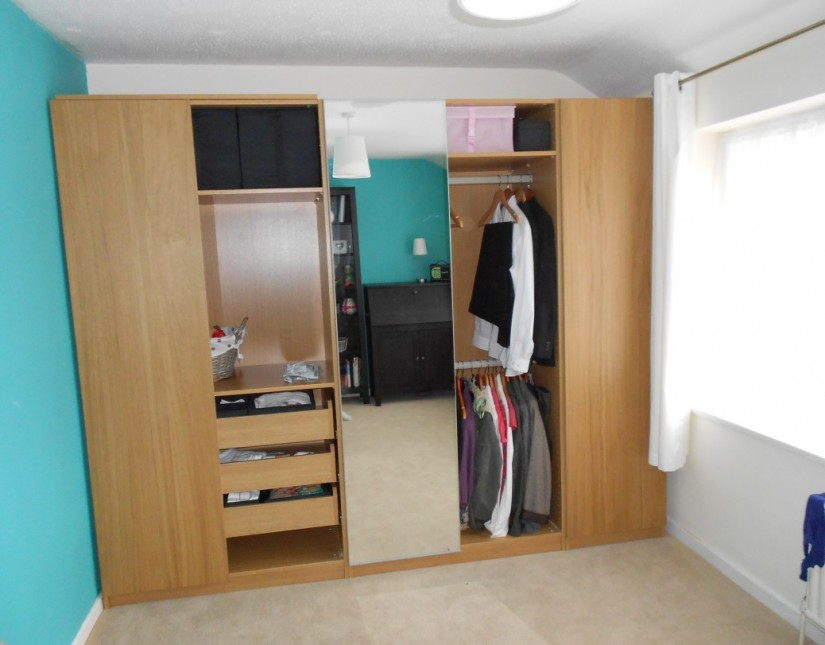 Clothing Armoire With Drawers | Free Standing Closet Wardrobe | Narrow Armoire