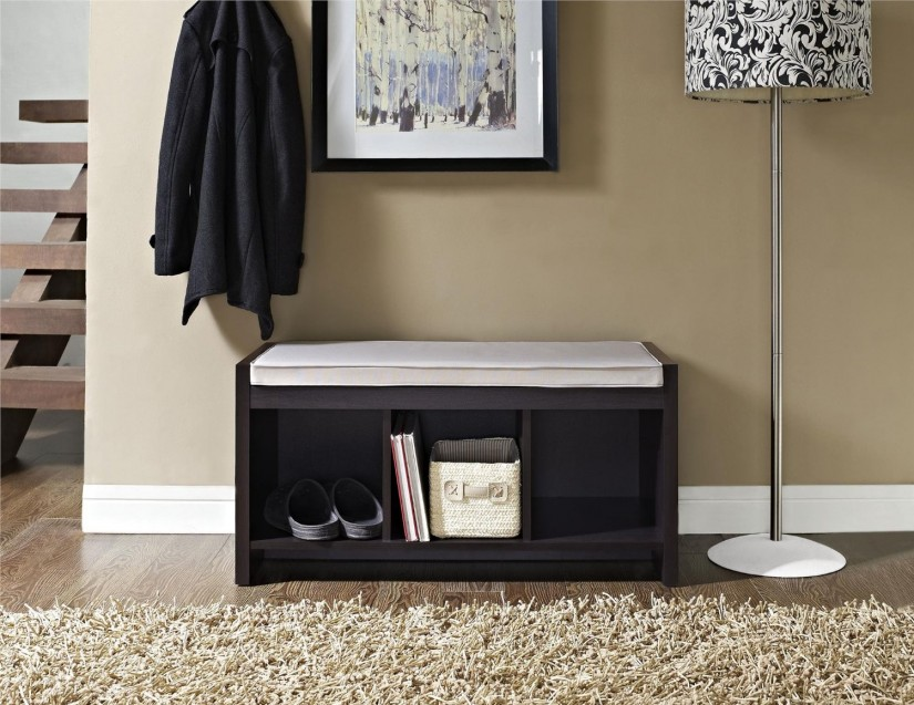 Coat Rack Bench Seat | Bench With Coat Hooks | Entryway Storage Bench With Coat Rack