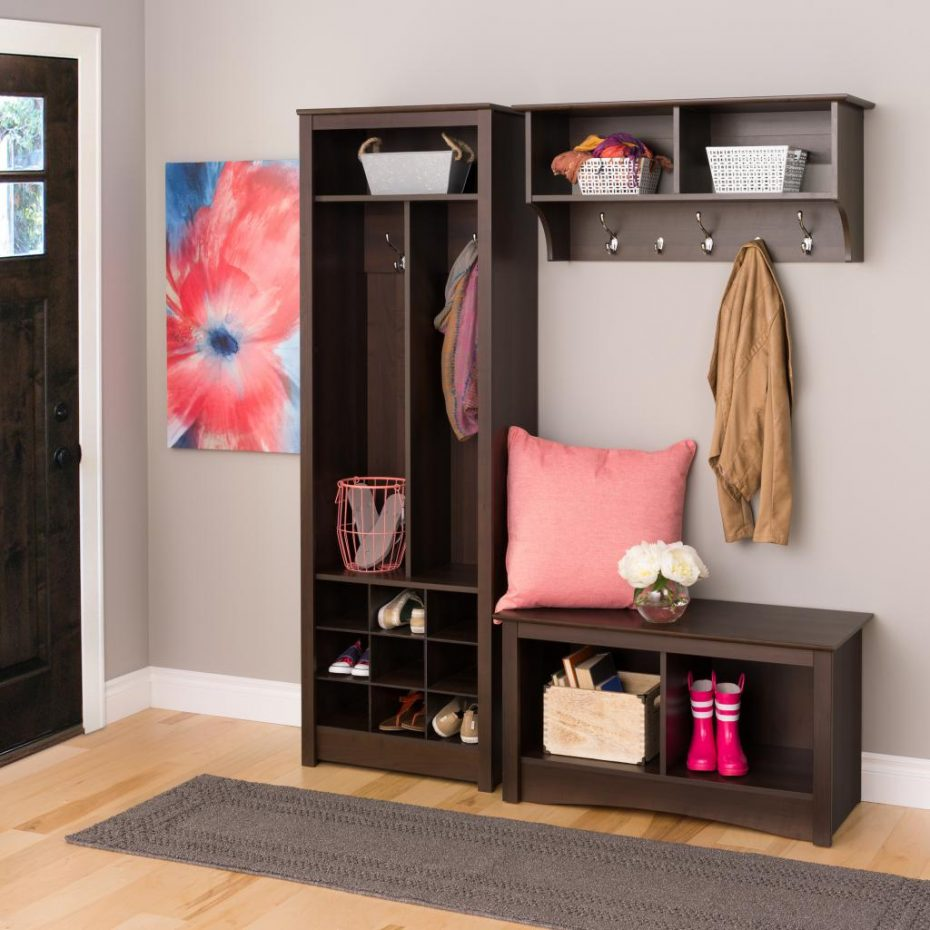 Coat Rack Entryway | Storage Bench with Coat Rack | Entryway Storage Bench with Coat Rack