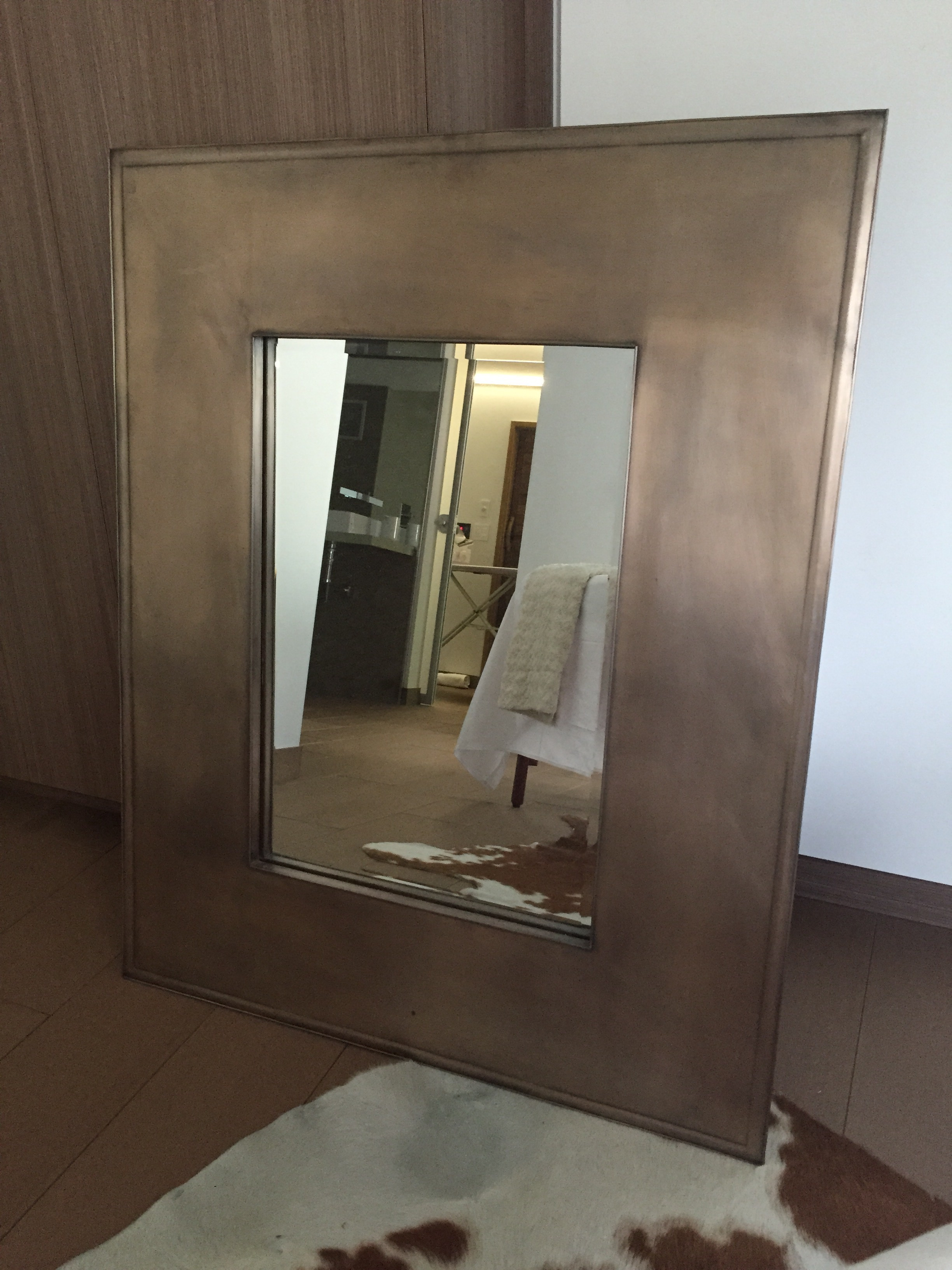 Crate and Barrel Mirrors | Silver Round Wall Mirror | Modern Full Length Mirror