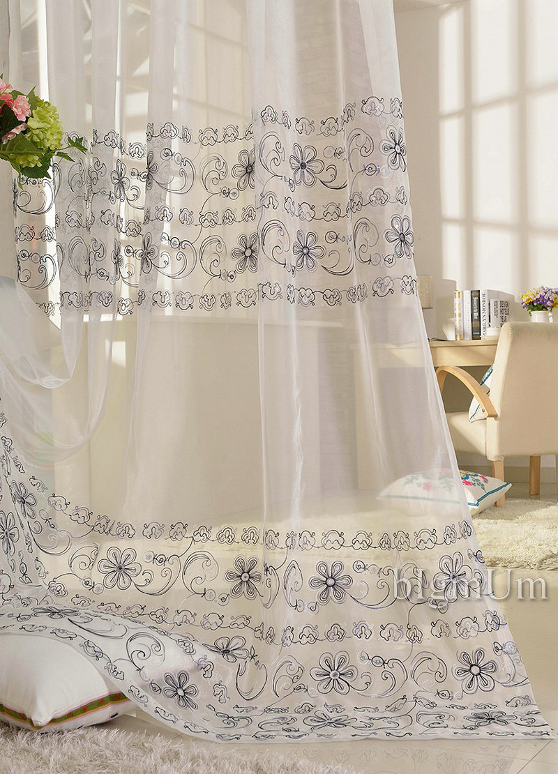 Luxury Interior Home Decorating Ideas with Embroidered Curtains: Crewel Curtains | Embroidered Curtains | Crewel Fabric For Sale