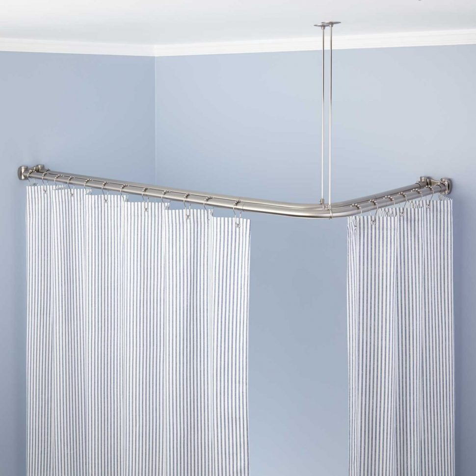 Curtain Rod Curved | Brushed Nickel Curved Shower Curtain Rod | Curved Curtain Rods