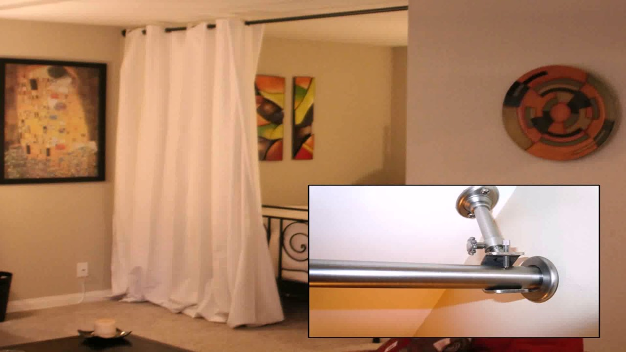 Curtain Rod Room Divider | Room Dividing Curtain | Room Divider Curtains