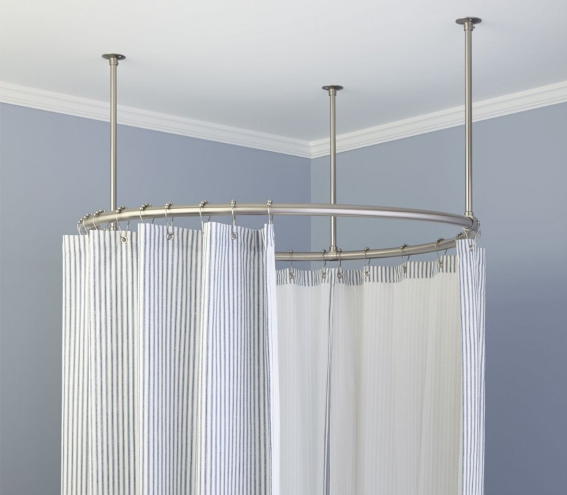 Curtain Rods For Curved Windows | Curved Curtain Rods | Curved Ceiling Mount Curtain Rods