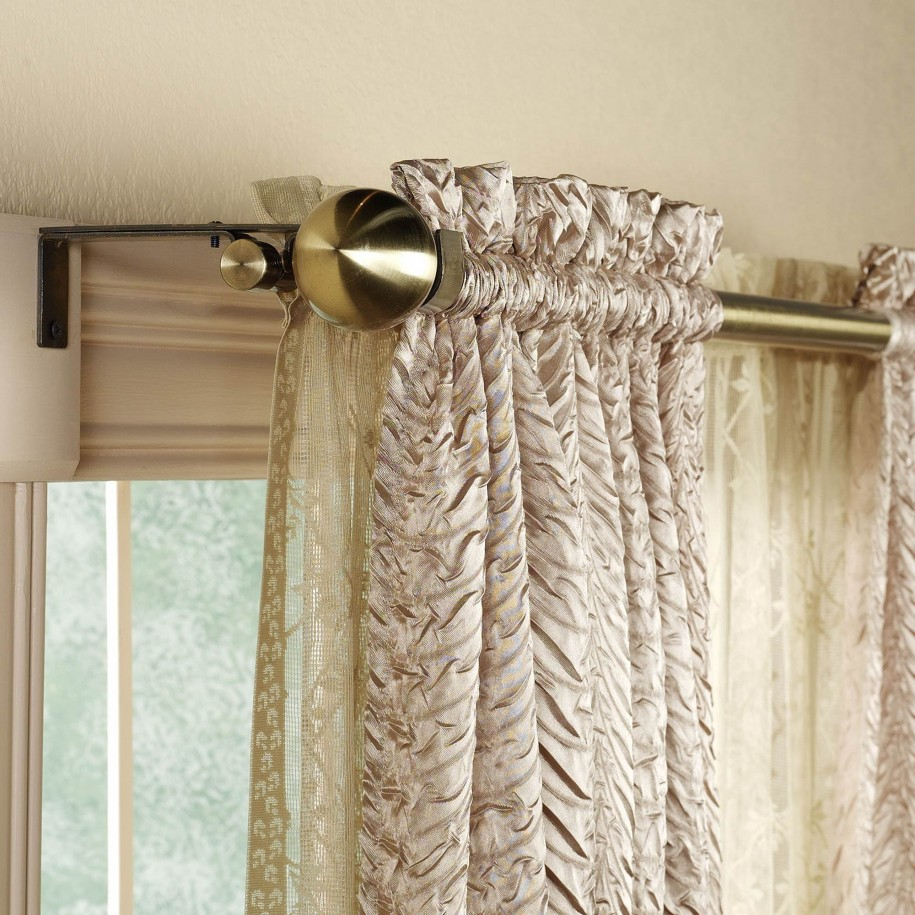 Curved Curtain Rods for Your Curtain Design Ideas: Curtain Rods For Curved Windows | Moen Curved Shower Curtain Rod | Curved Curtain Rods