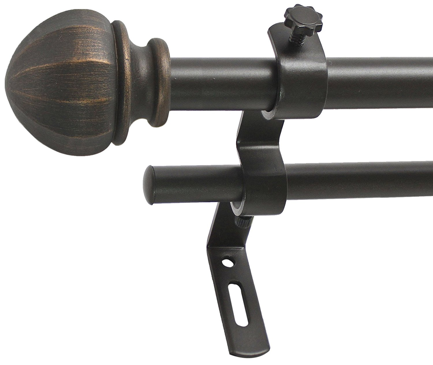 Curton Rod | Double Curved Shower Curtain Rod Oil Rubbed Bronze | Bronze Curtain Rods
