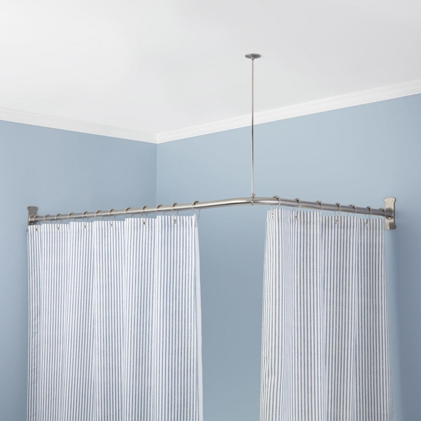Curved Curtain Rods | Curved End Curtain Rods | Curved Curtain Rods