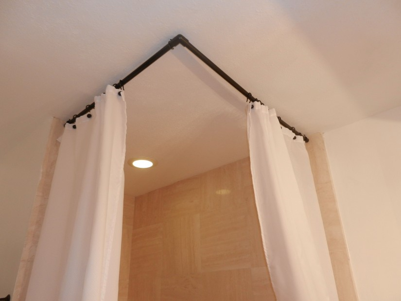 Curved Curtain Rods | Curved Shower Curtain Rod Cover | Curved Curtain Rods For Windows