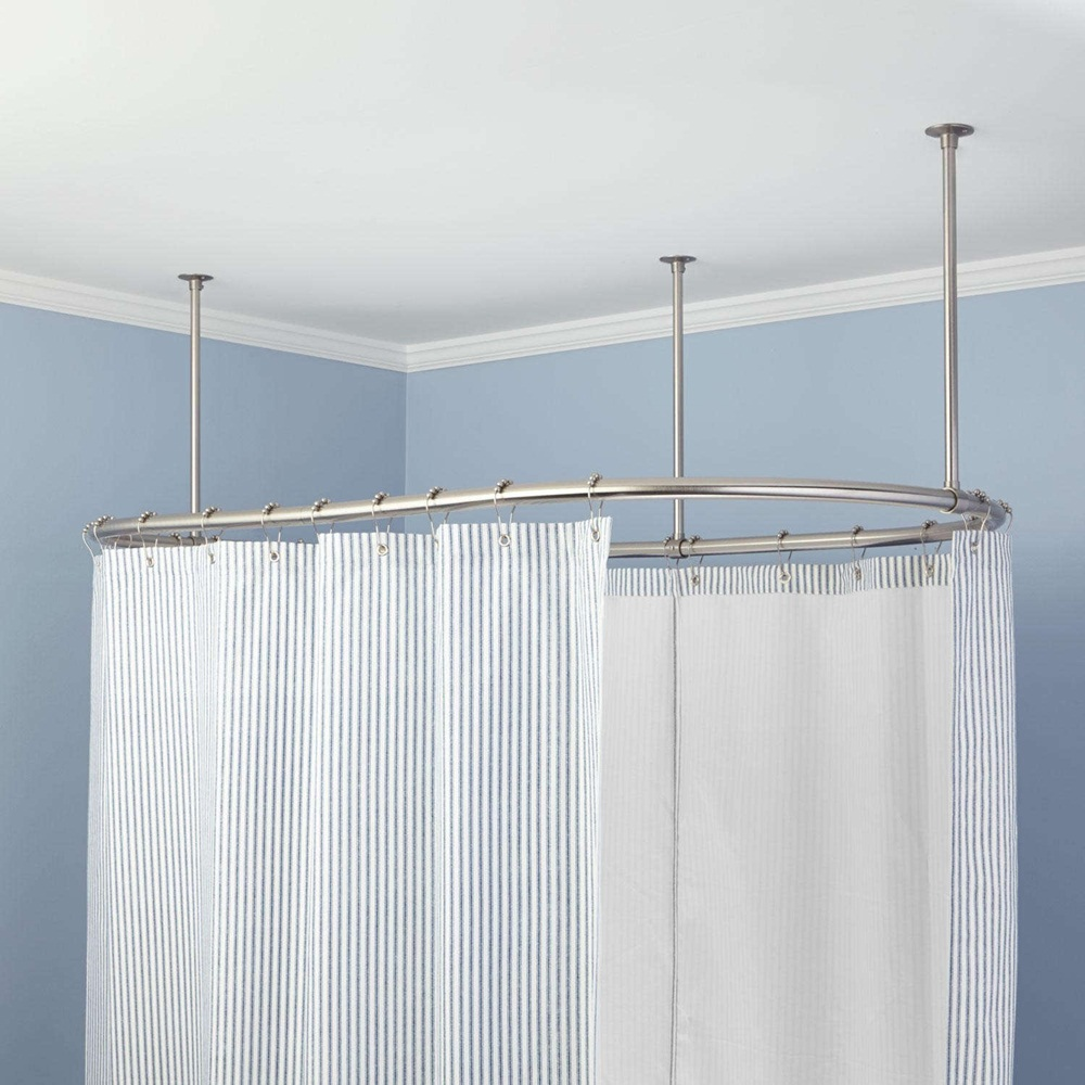 Curved Curtain Rods for Your Curtain Design Ideas: Curved Curtain Rods | Shower Curtain Curved Rod | Curved Valance Rod
