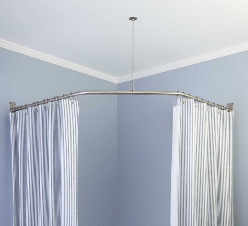 Curved Shower Curtain Rods | Curved Curtain Rods | Curved Curtain Rods For Arched Windows