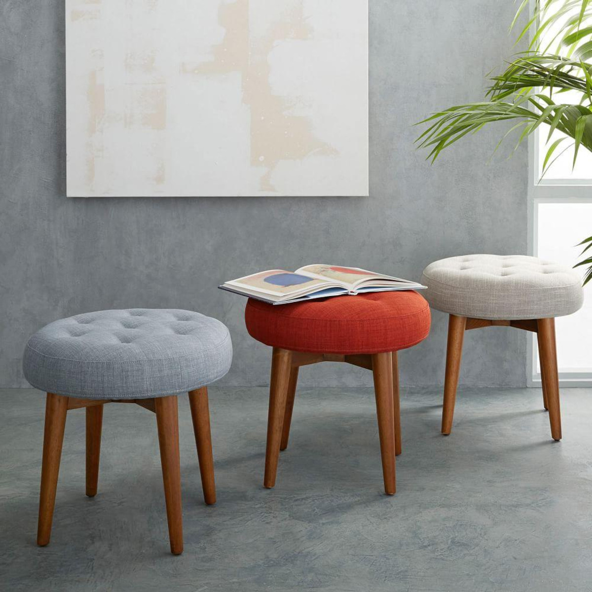Decorative Foot Stool | West Elm Ottoman | Furniture Footstools