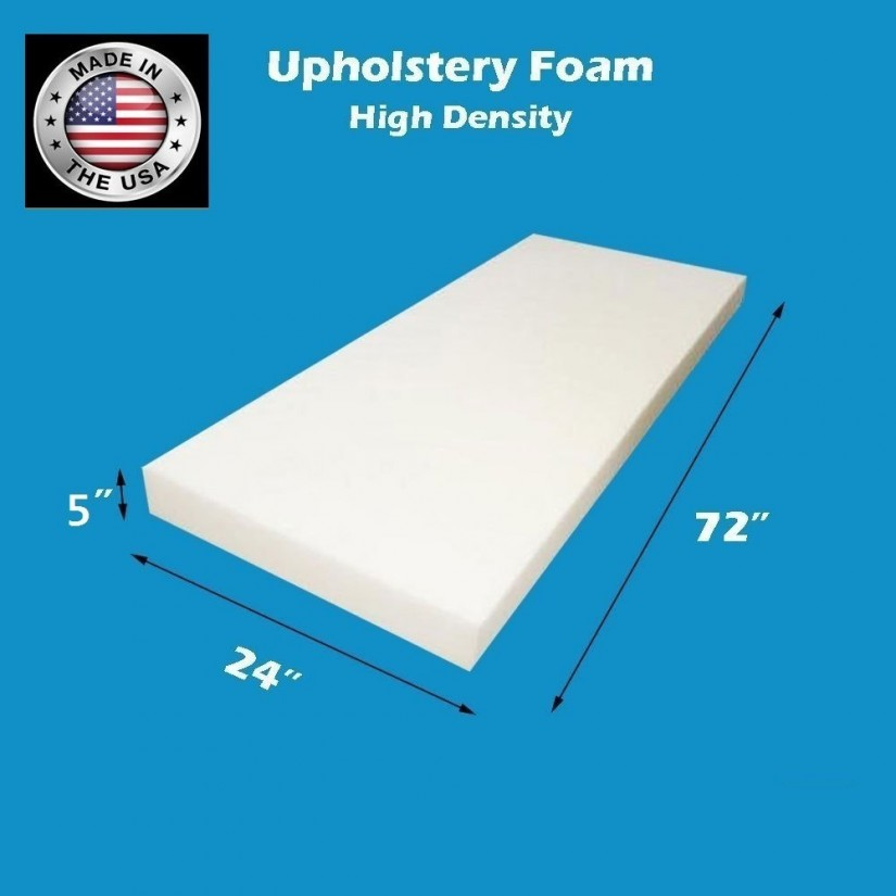 Dense Upholstery Foam | High Density Upholstery Foam | 5 Inch High Density Foam