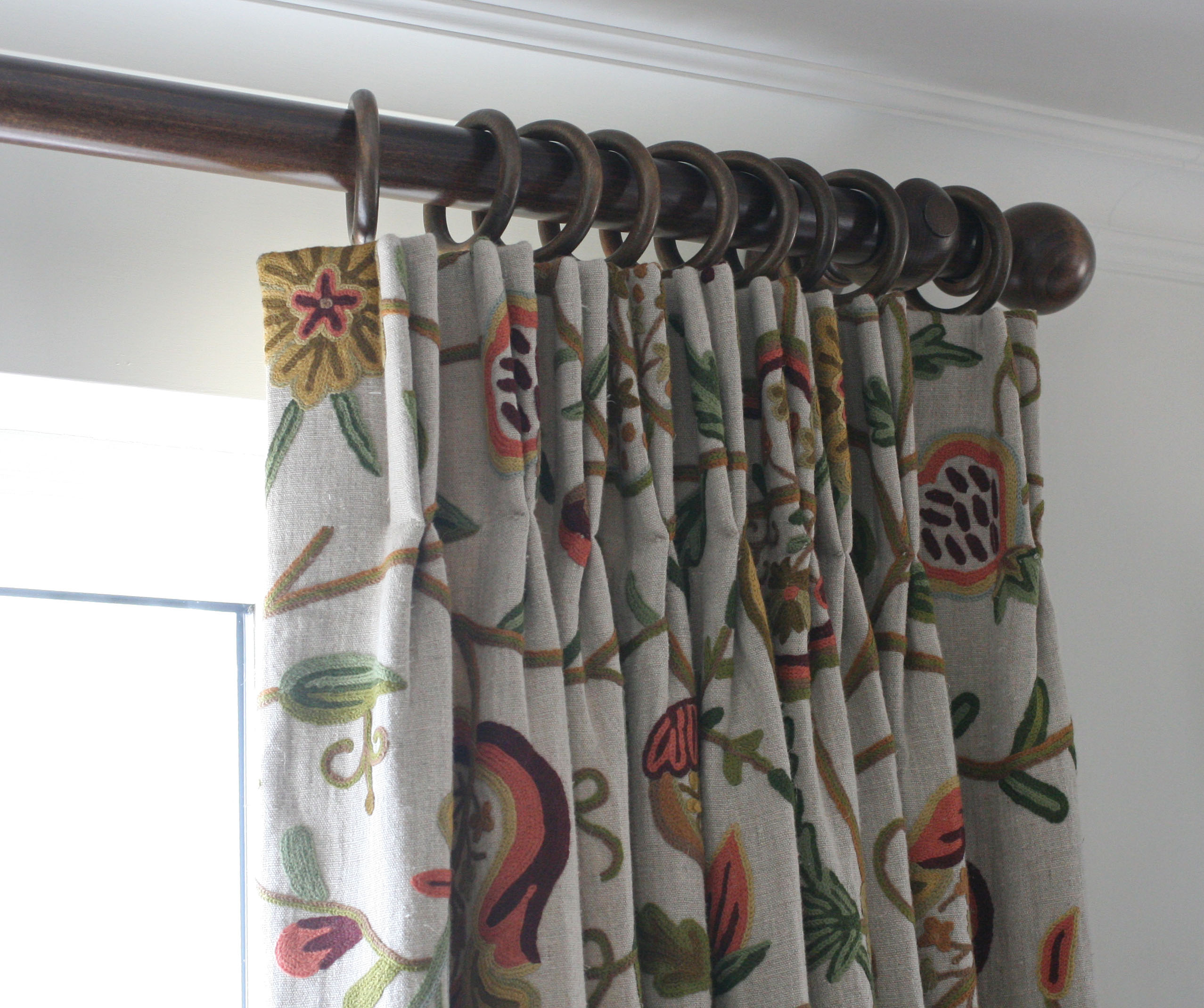 Embroidered Curtains | Embroidered Panel Curtains | Sheer Ikat Curtains