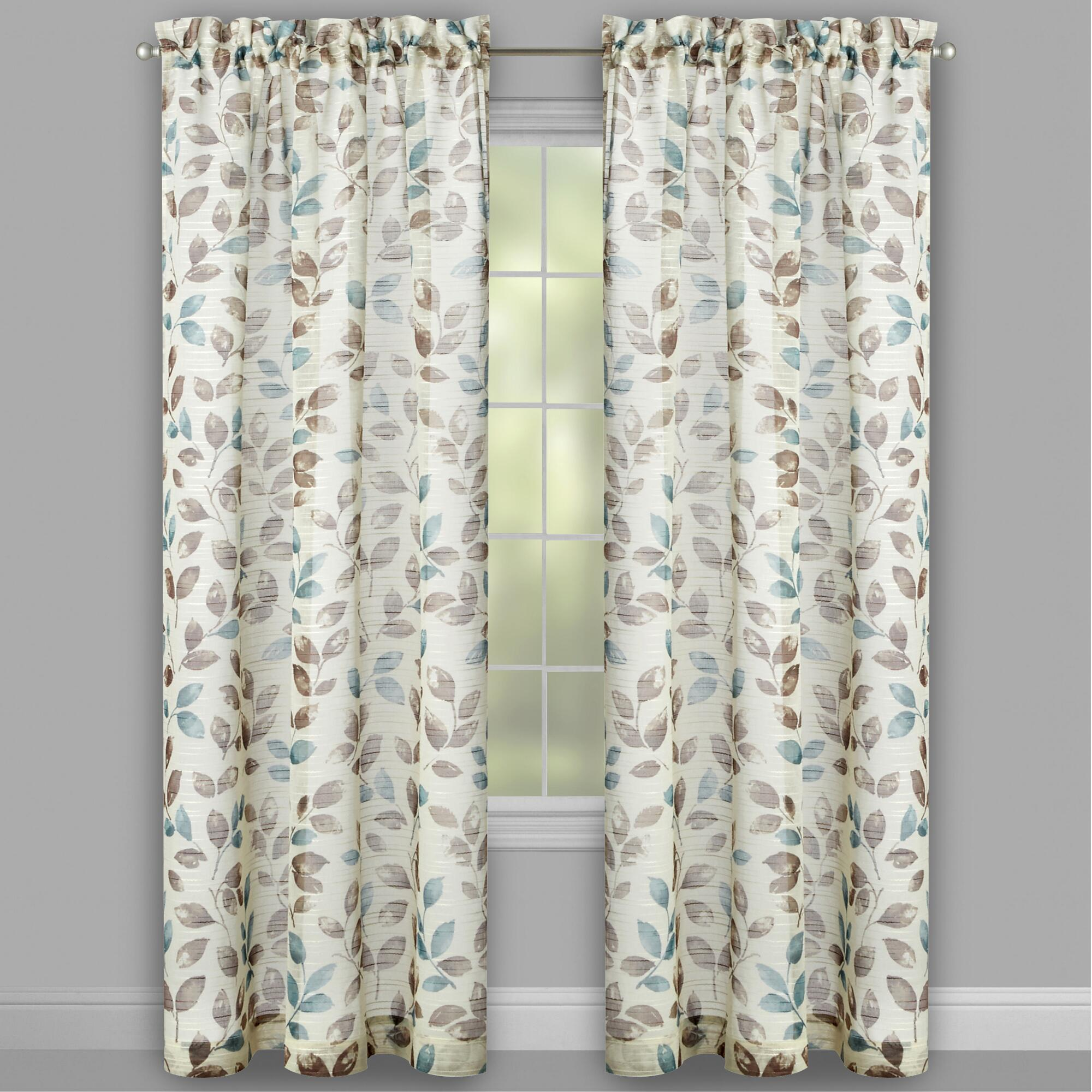 Embroidered Curtains | Peach Floral Curtains | Chartreuse Velvet Curtains