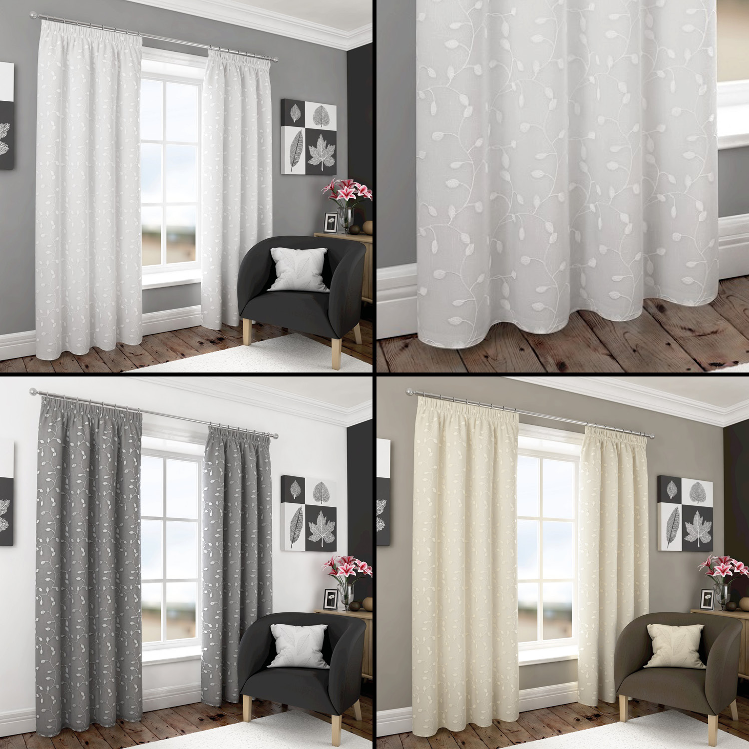 Embroidered Curtains | Pom Pom Drapes | Embroidered Curtain Panels