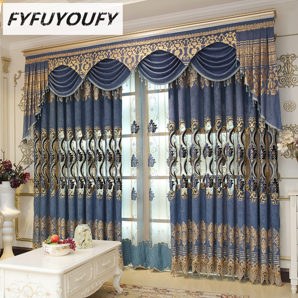 Embroidered Curtains | Thick Striped Curtains | Cream Embroidered Curtains