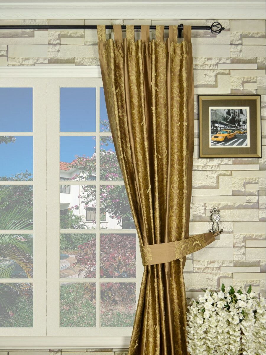 Embroidered Curtains | Vintage Drapes for Sale | Crewel Curtains