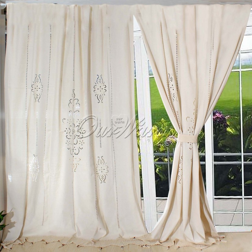 Embroidered Kitchen Curtains | Embroidered Curtains | Embroidered Drapery Panels