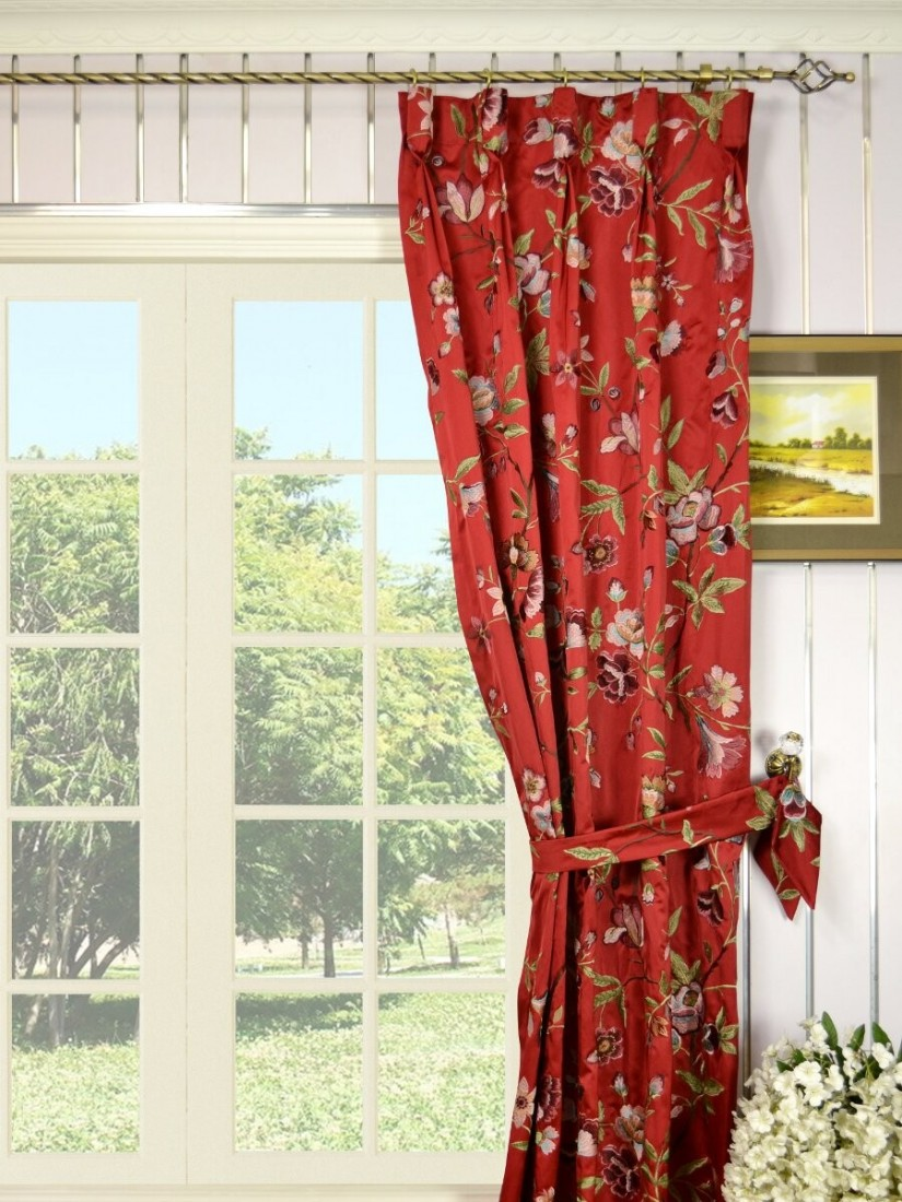Embroidered Sheer Curtains | Marrakech Curtain Anthropologie | Embroidered Curtains