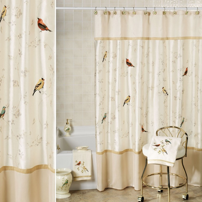 Embroidered Shower Curtains | Embroidered Curtains | Macrame Drapes
